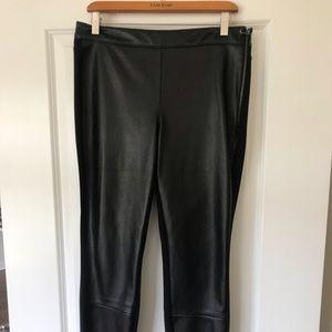 White House Black Market Leather Leggings
